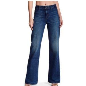 Helmut Lang Blue Washed No Pocket High Rise Jeans